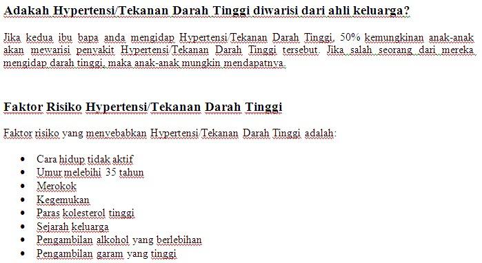 Kaunter Pemeriksaan Tekanan Darah Kakitangan JPS Sabah 1412