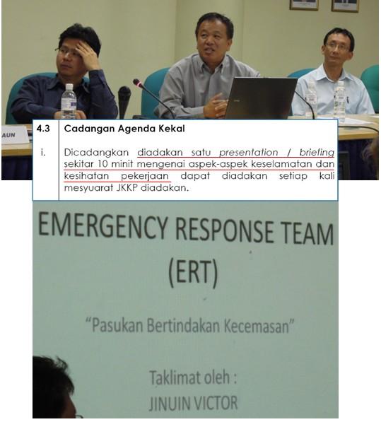 Mesyuarat Jawatankuasa Keselamatan dan Kesihatan Pekerjaan (JKKP) Bil 2/2012, JPS Sabah 829