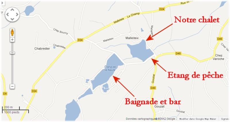 Creuse, le site des étangs de la Naute et Malleteix juillet 2012 Mapdeu10