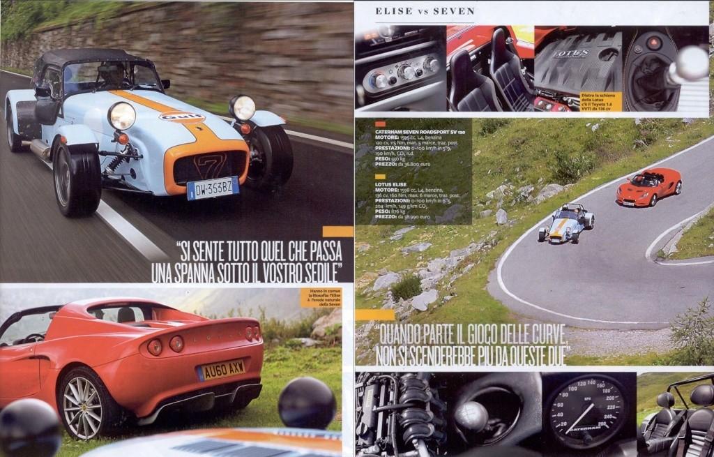 Articolo Top Gear - Prova Elise e Caterham 310