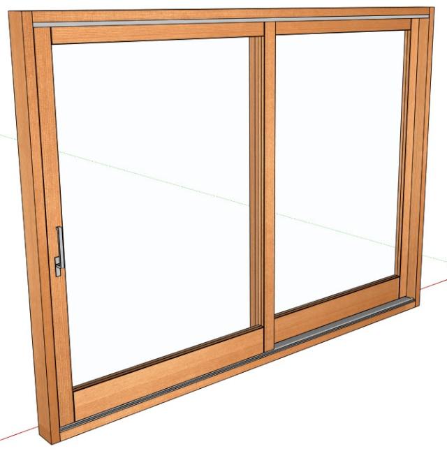 Baie vitrée coulissante-soulevante en bois 02-12-11