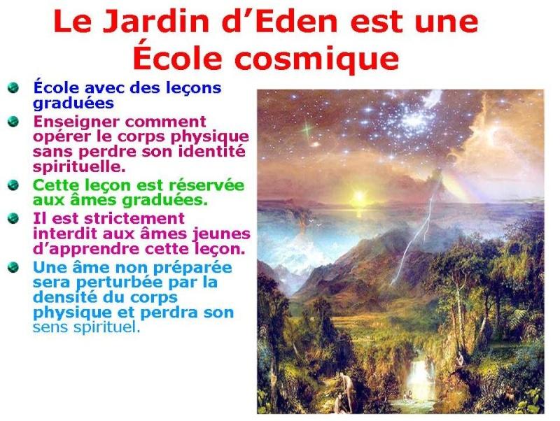 Le Jardin d'Éden est en réalité une École cosmique E210