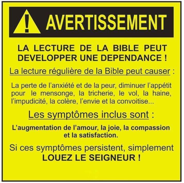 Avertissement au sujet de la Bible... 10409710