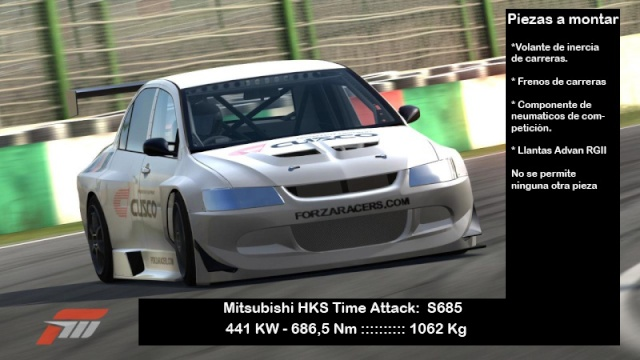 Torneo Forzaracers Time Attack (Mitsubishi HKS T.A. Evolution) Reglamento e inscripción Forza211