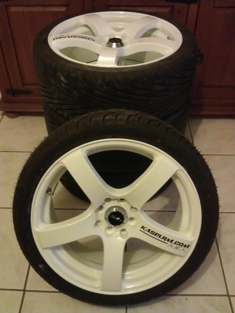 """[VDS] 4 Jantes 17"""" BELLINI RS-BR blanches + 4 pneus neufs Imag0833"""
