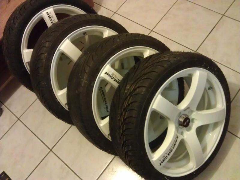 """[VDS] 4 Jantes 17"""" BELLINI RS-BR blanches + 4 pneus neufs Imag0835"""