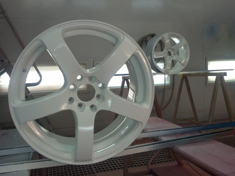 """[VDS] 4 Jantes 17"""" BELLINI RS-BR blanches + 4 pneus neufs Jantes14"""