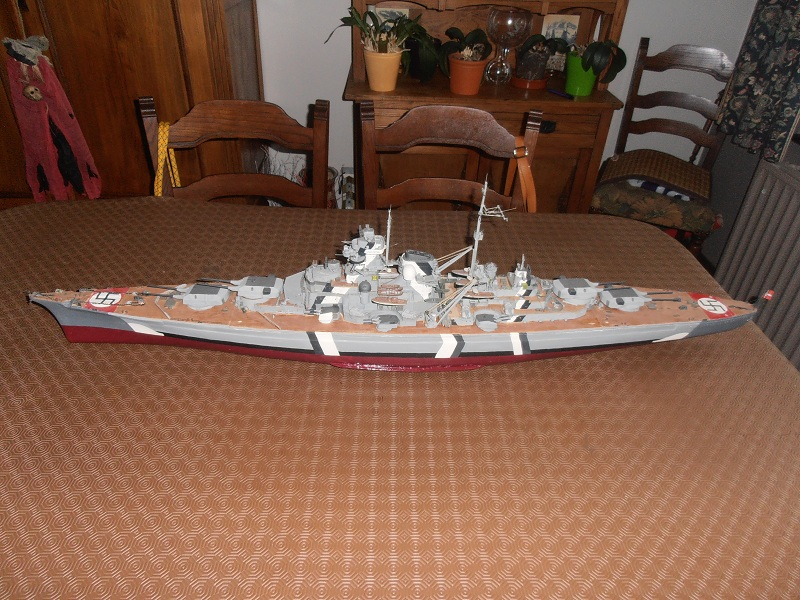 model 1/200 maquette du Bismarck Bismar12