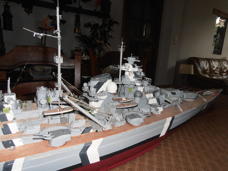 model 1/200 maquette du Bismarck Bismar13