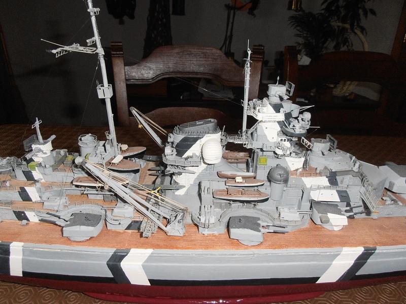 model 1/200 maquette du Bismarck Bismar15