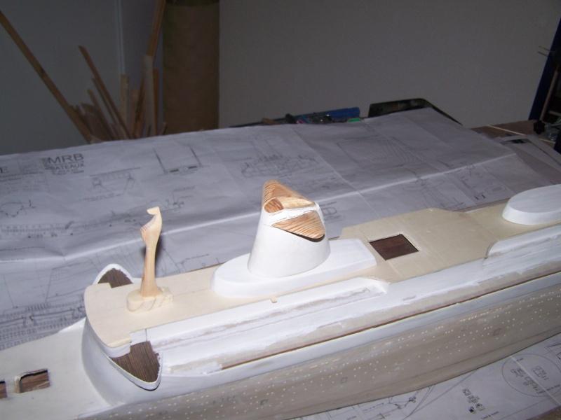Construction du Paquebot FRANCE au 1/200 plan MRB en 2010 100_2517