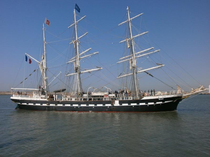 Arrivée du BELEM au port de Calais aujourd'hui P5290011