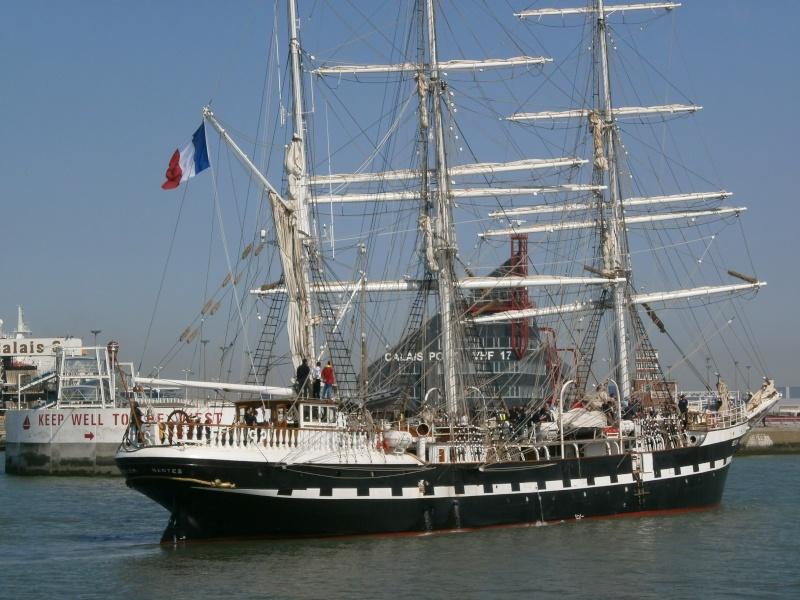 Arrivée du BELEM au port de Calais aujourd'hui P5290013