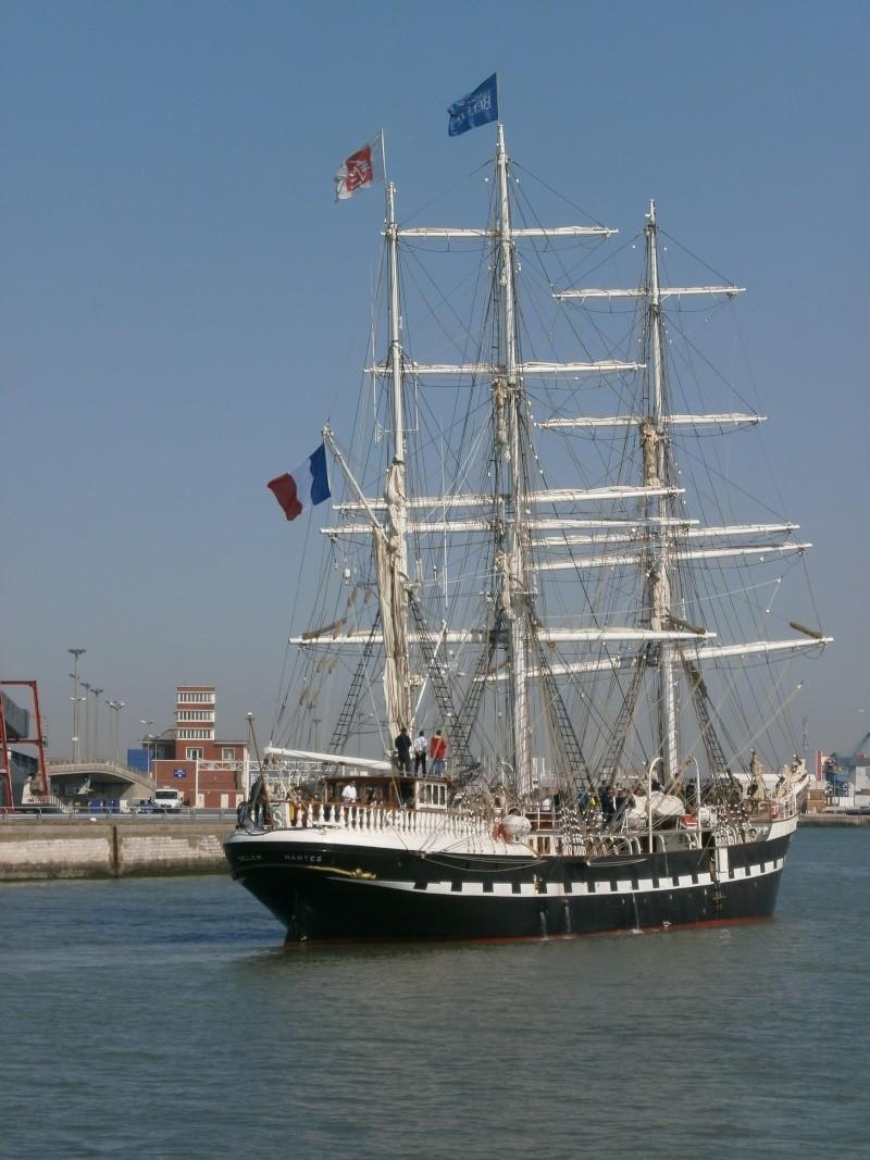 Arrivée du BELEM au port de Calais aujourd'hui P5290014