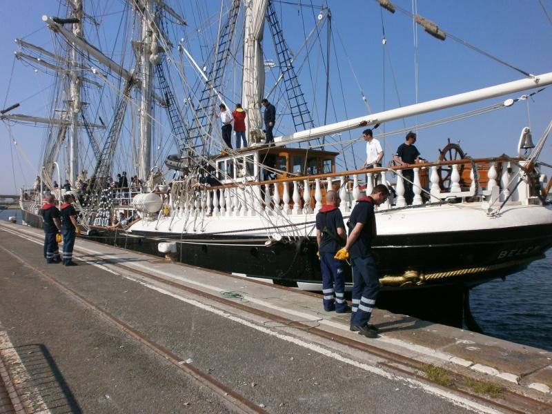 Arrivée du BELEM au port de Calais aujourd'hui P5290016