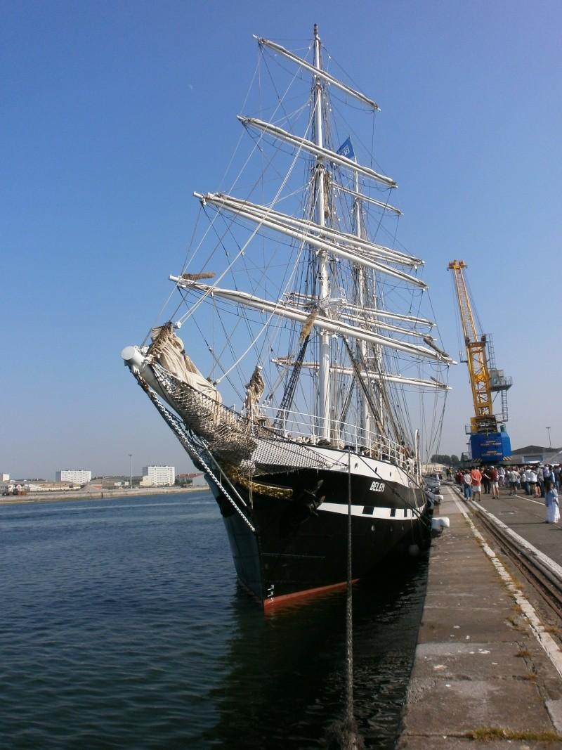 Arrivée du BELEM au port de Calais aujourd'hui P5290017