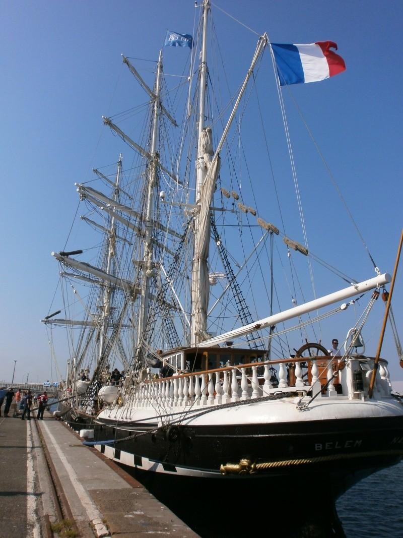 Arrivée du BELEM au port de Calais aujourd'hui P5290019