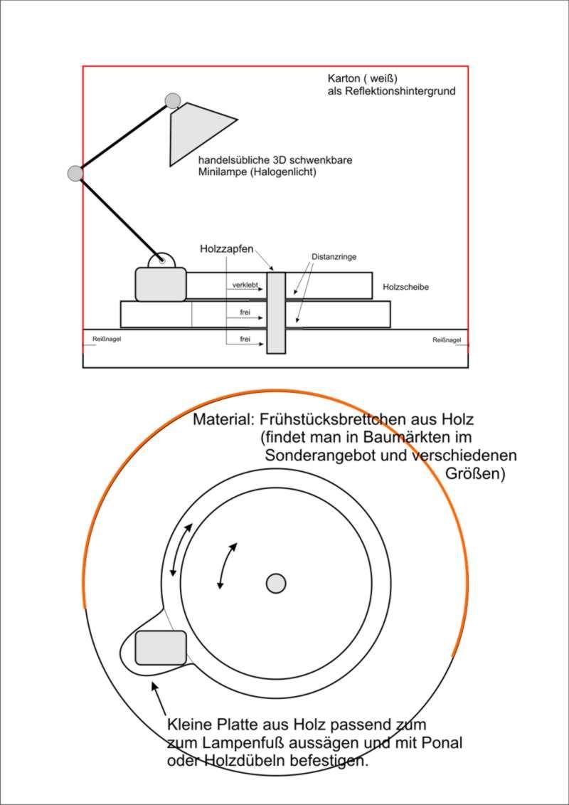 Kleines Tischfotostudio im Selbstbau Licht-10