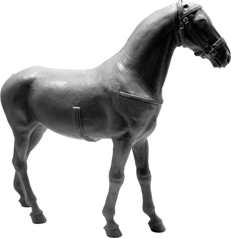 Kleines Tischfotostudio im Selbstbau Pferd_16