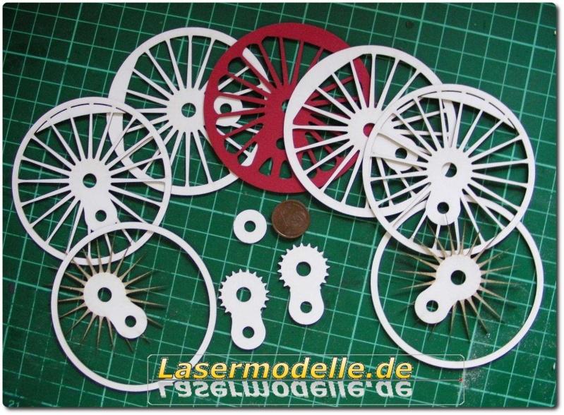 LC-Treibräder für die PU 29 in 1:25 Sany2720