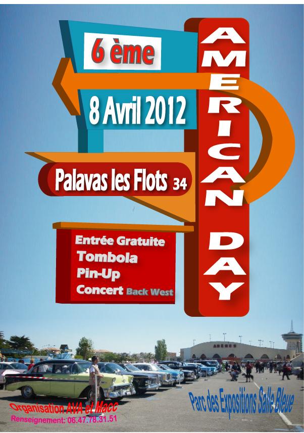 6ème AMERICAN DAY   le 8 AVRIL 2012 PALAVAS les FLOTS (34) Affi-p12