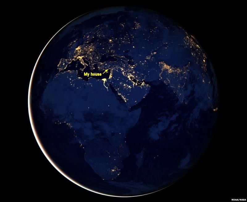 Suomi satellite pictures Earth in black Black_10