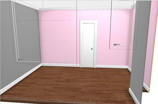 Maison à rafraîchir : La chambre de ma fille de 2 ans ? 2 murs peints, ça avance ! Page 4 Rose_g11