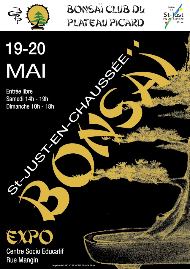 Saint just en chaussée (60)Expo du Bonsaï Club du Plateau Picard Affich13