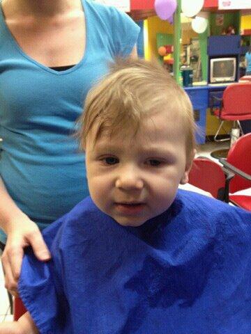 Cadens first haircut Before10