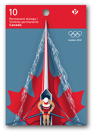 London 2012 Stamp - Canada - 1 stamp (Rowing) 2012_l10