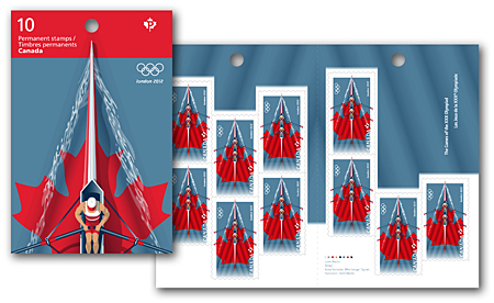 London 2012 Stamp - Canada - 1 stamp (Rowing) 2012_l11