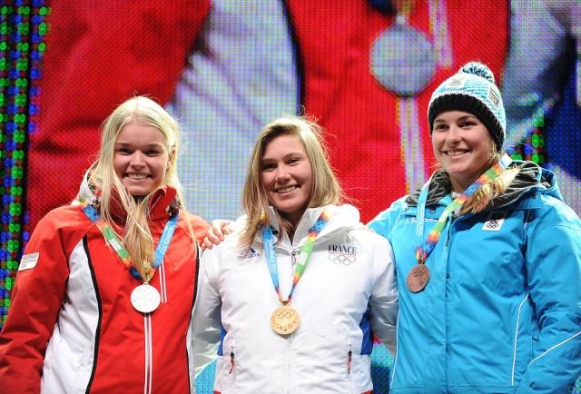 Estelle Alphand 1ere Médaille d'Or des Jeux Olympiques de la Jeunesse d'hiver - Innsbruck 2012 66969410