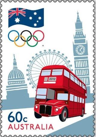 Timbre Australie - Londres, Equipe Olympique 2012 Austra10