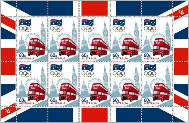 Timbre Australie - Londres, Equipe Olympique 2012 Austra11