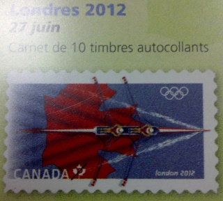 London 2012 Stamp - Canada - 1 stamp (Rowing) Canada10
