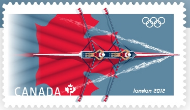 London 2012 Stamp - Canada - 1 stamp (Rowing) Canada11