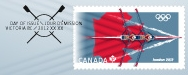 London 2012 Stamp - Canada - 1 stamp (Rowing) Canada12