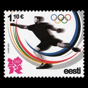 Timbre Estonie - Jeux Olympiques de Londres 2012 (Athlétisme) Close-10