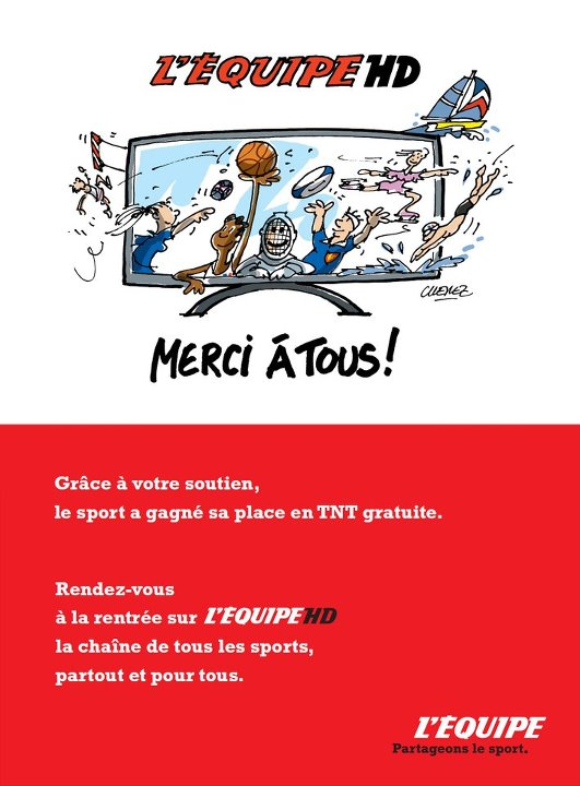 Enfin une chaine de sport sur la TNT gratuite.... Bienvenue à l'Equipe HD Equipe11