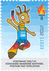 A third stamp to celebrate the 1st Winter Youth Olympic Games, Innsbruck 2012 - From Estonia Estoni10