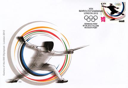 Timbre Estonie - Jeux Olympiques de Londres 2012 (Athlétisme) Estoni14
