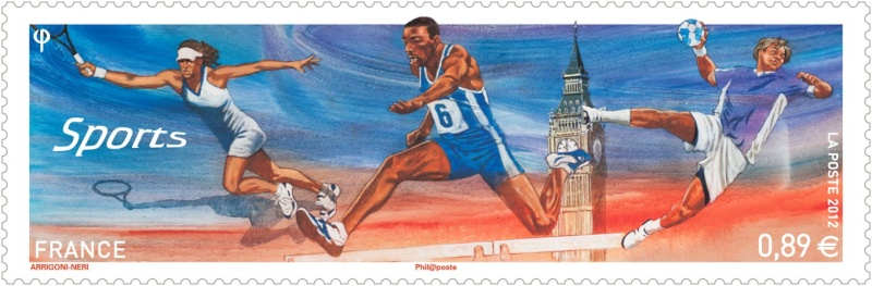 Timbre France - Londres, Sports 2012 France11