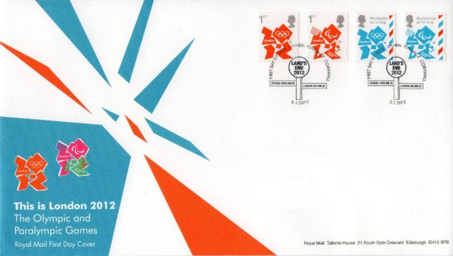 2 new stamps unveiled by te Royal Mail celebrating the London 2012 Games Gb_20111