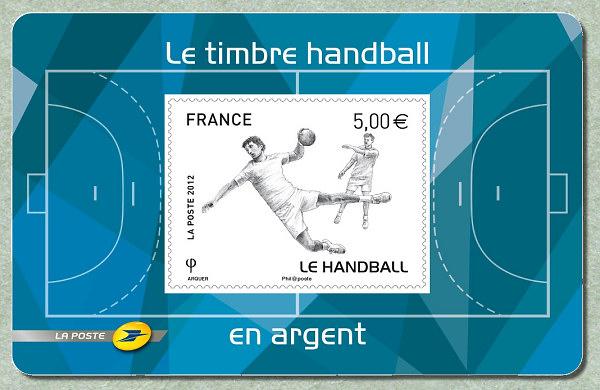 Timbre France - Handball (argent) 2012 Hand_b11