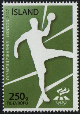 Timbre Islande - Jeux Olympiques de Londres 2012 (Handball) Ice20110
