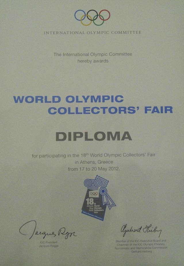 Live from Athens 2012 !!! Au jour le jour des news de la Foire Mondiale des Collectionneurs Olympiques à Athènes... Img-2017