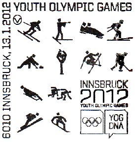 1 new stamp to be unveiled in Austria to celebrate the 1st Winter Youth Olympic Games, Innsbruck 2012 Innsbr10