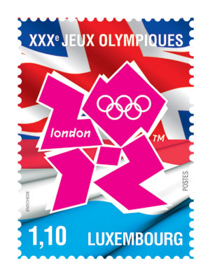 Timbre Luxembourg - Jeux Olympiques de Londres 2012 Luxemb10