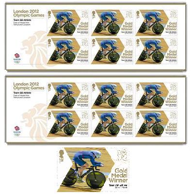 London 2012 Stamps - Gold Medal UK Athletes Commemorative Stamps Mw002l10