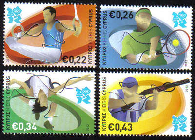 London 2012 Stamps - Cyprus - 4 stamps Philat10